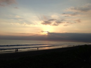 Bali - Sunset on Beach few people 2